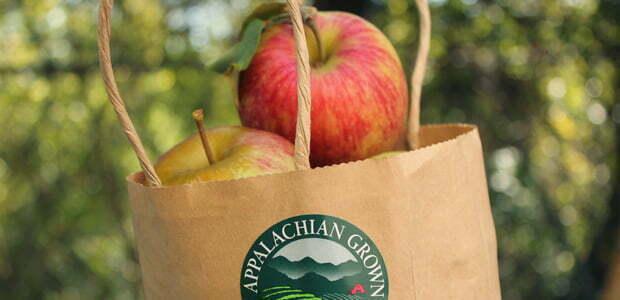 A bag of Appalachian Grown local apples