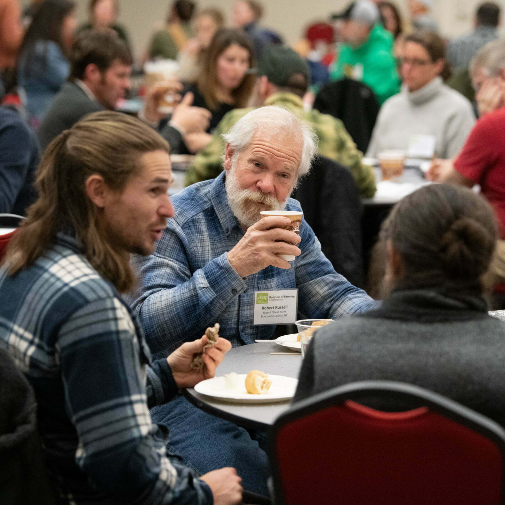 farmers networking at the 2020 Business of Farming Conference