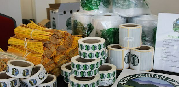 Appalachian Grown branded packaging materials
