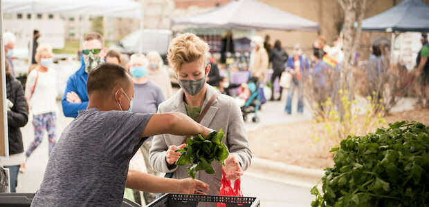 Lee's One Fortune Farm at ASAP Farmers Market_photo by Camilla Calnan