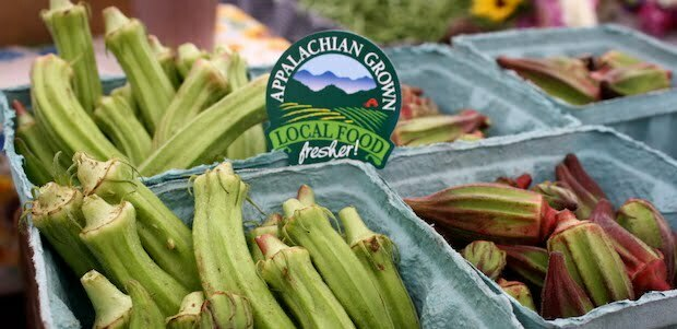 Appalachian Grown-branded okra from Ten Mile Farm