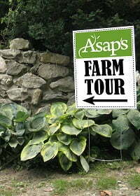 ASAP's Farm Tour sign