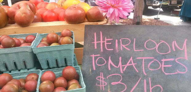 Heirloom Tomatoes at Asheville City Market-South