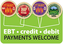 EBT - Credit - Debit Payments Welcome